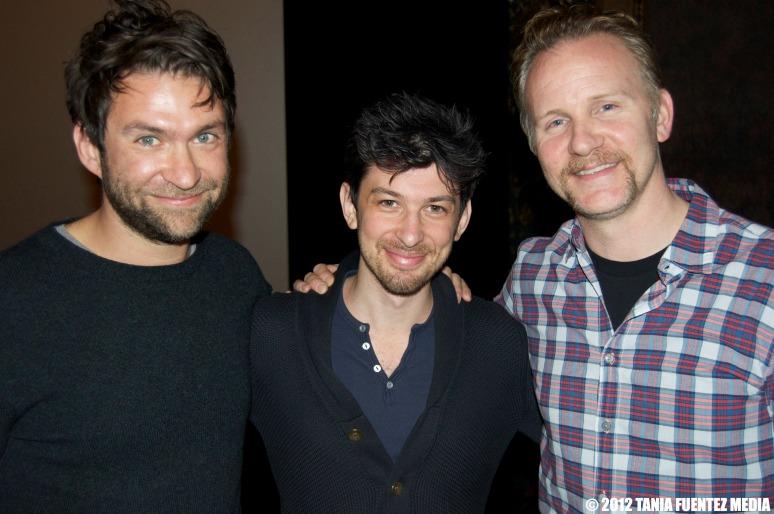 (L-R) MATTHEW GALKIN, JEREMY CHILNICK and MORGAN SPURLOCK at NYC screening