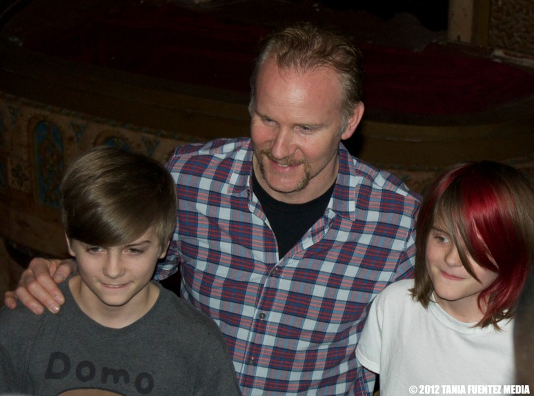 MORGAN SPURLOCK with fans at 'Comic-Con' film premiere in NYC