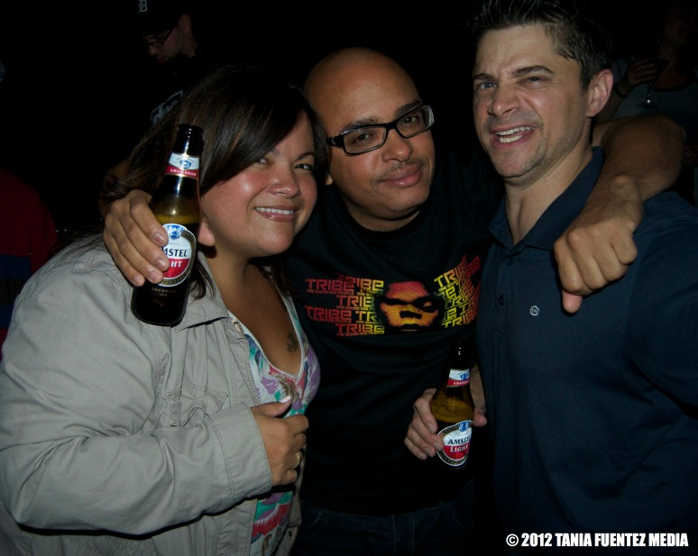 DJs OSCAR P. (center), BUMPY NUGGETS (right) with friend