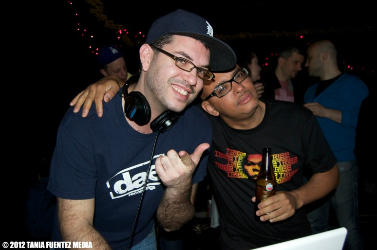 DJs AARON DAE (LEFT) and OSCAR P. AT WHITE NOISE