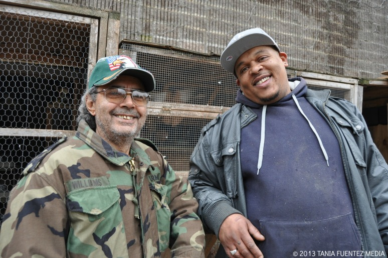 Carlos Cordero and friend at Surf Side Garden in Brooklyn, NY