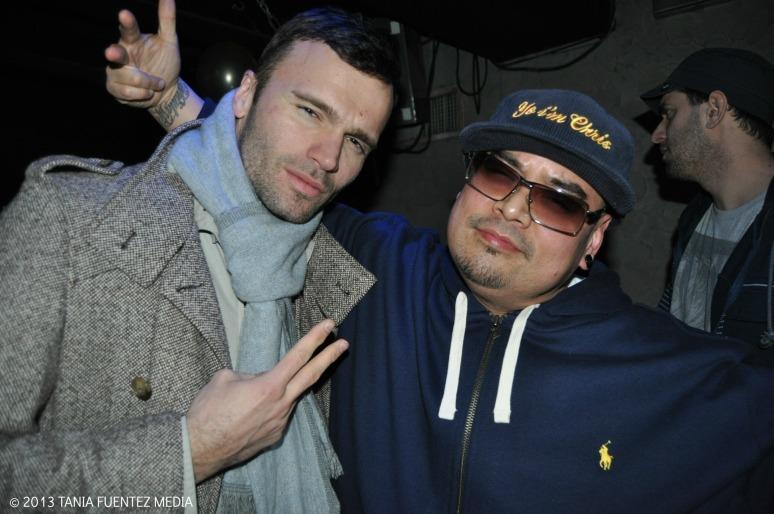 DJ CHRIS LOVE (RIGHT) CELEBRATING HIS BIRTHDAY AT SULLIVAN ROOM, NYC