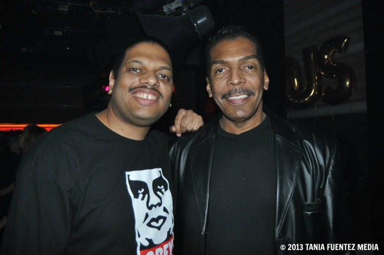 JOSEPH CHANDLER (RIGHT) CELEBRATES HIS BIRTHDAY WITH FAMOUS SON AT CIELO