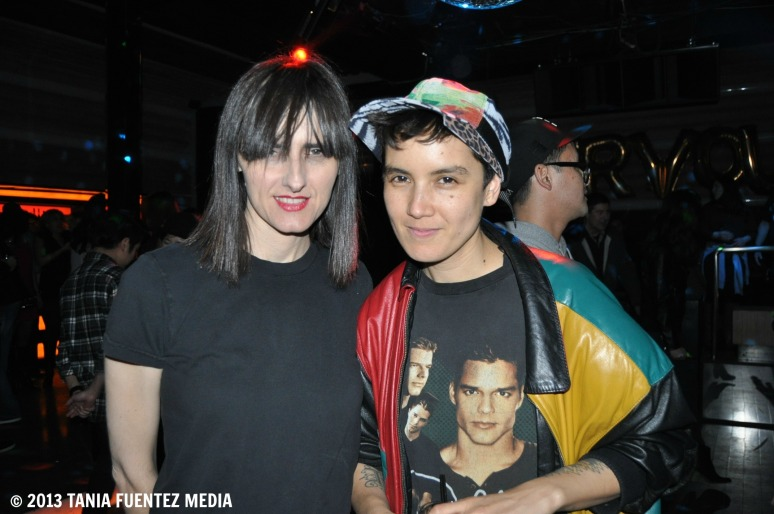 KIM ANN FOXMAN (RIGHT) WITH FRIEND