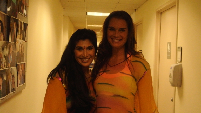 SARINA JAIN (LEFT) AND ACTRESS BROOKE SHIELDS ON 'THE VIEW'