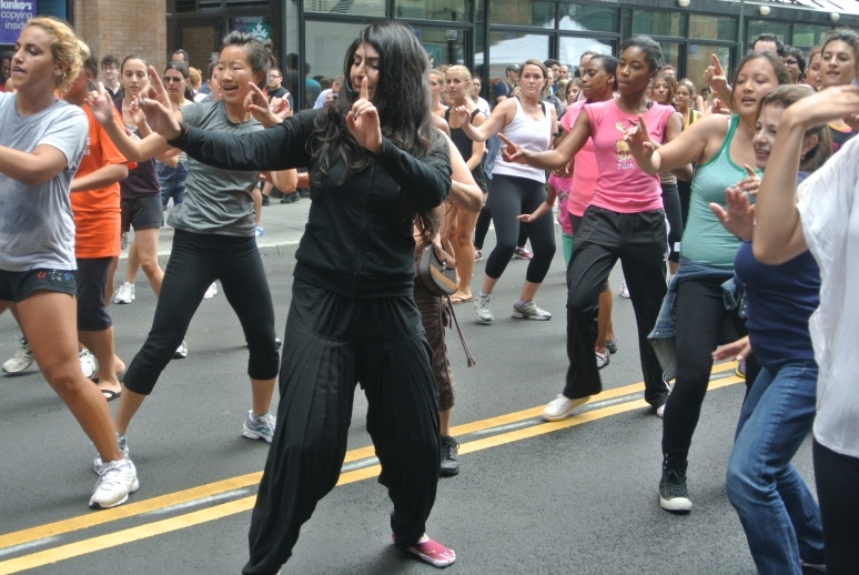 SARINA JAIN (CENTER)  DANCING IN THE STREETS