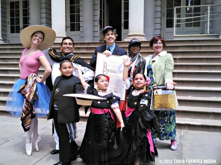 DANCE PARADE NY EXECUTIVE DIRECTOR GREG MILLER (CENTER) AT CITY HALL