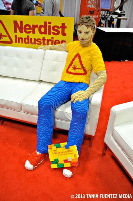 NATHAN SAWAYA'S LEGO REPLICA OF 'TALKING DEAD' HOST CHRIS HARDWICK AT 2012 NY COMIC CON