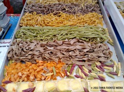 FRESH PASTA ON DISPLAY AT UNION SQUARE GREENMARKET
