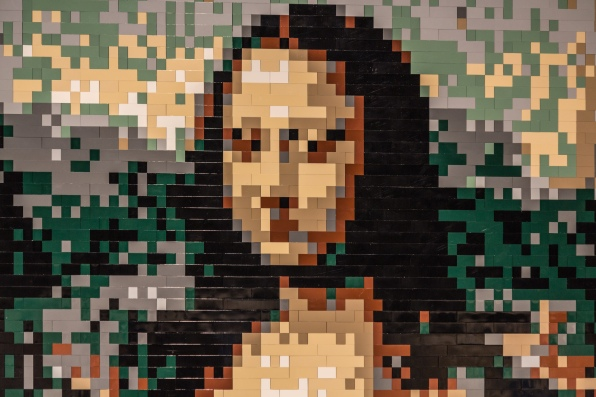 NATHAN SAWAYA'S 'MONA LISA' LEGO REPLICA  PHOTO CREDIT: EMILY BELL