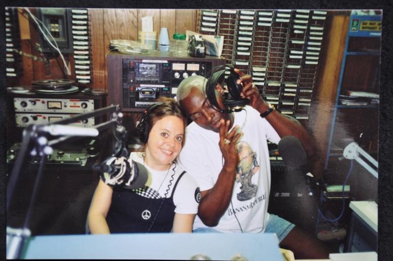 DJs JEANNIE HOPPER AND CARLOS SANCHEZ AT WBAI STUDIOS ON W. 35TH ST.
