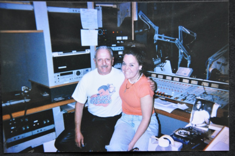 PARADISE GARAGE'S MEL CHEREN (L) WITH HOPPER AT WBAI STUDIOS ON WALL ST., EARLY 2000s