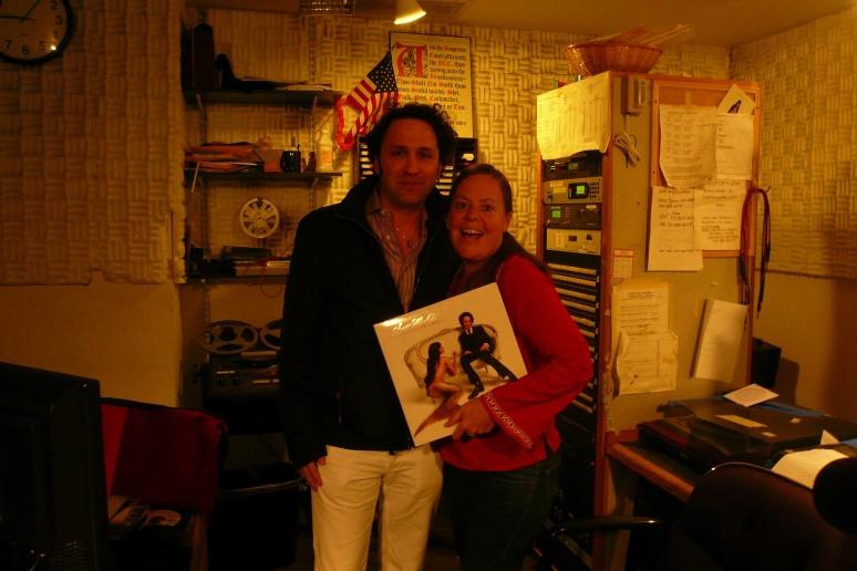 DJ/PRODUCER SCOTT HARDKISS WITH JEANNIE HOPPER AT WBAI STUDIO,