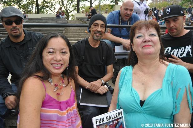 LADY PINK (L), FUTURO (CENTER) AND PATTI ASTOR AT 'WILD STYLE' 30TH ANNIVERSARY