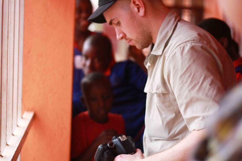 FILMMAKER RAY ZABLOCKI AT UGANDA'S TRINITY PRIMARY SCHOOL, 2013