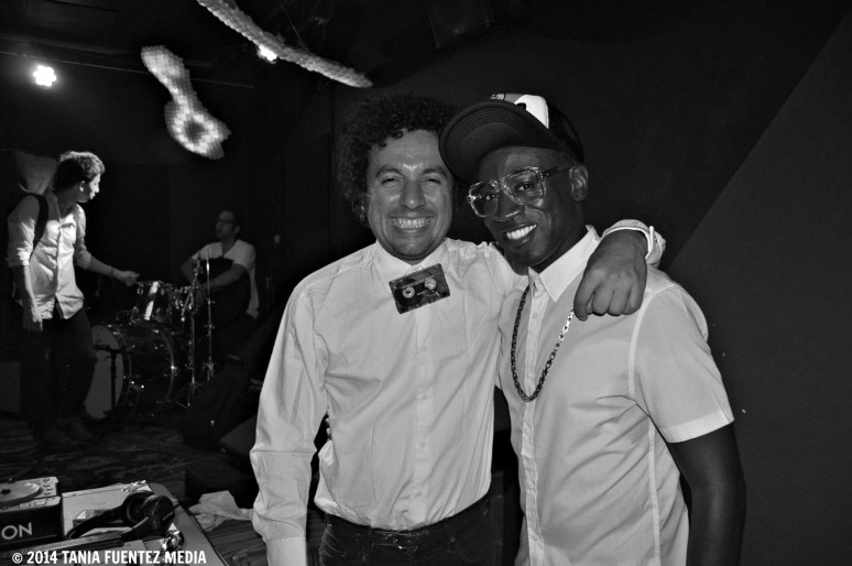 "THE COPASETIC (DJ AFRO, LEFT, AND MANCHILDBLACK) AT ""IF I EVER"" RELEASE PARTY, BROOKLYN, 2014"